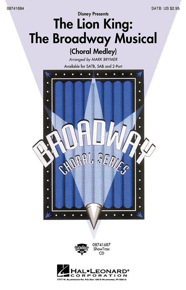 Elton John Tim Rice: The Lion King: The broadway Musical: SATB: Vocal Score