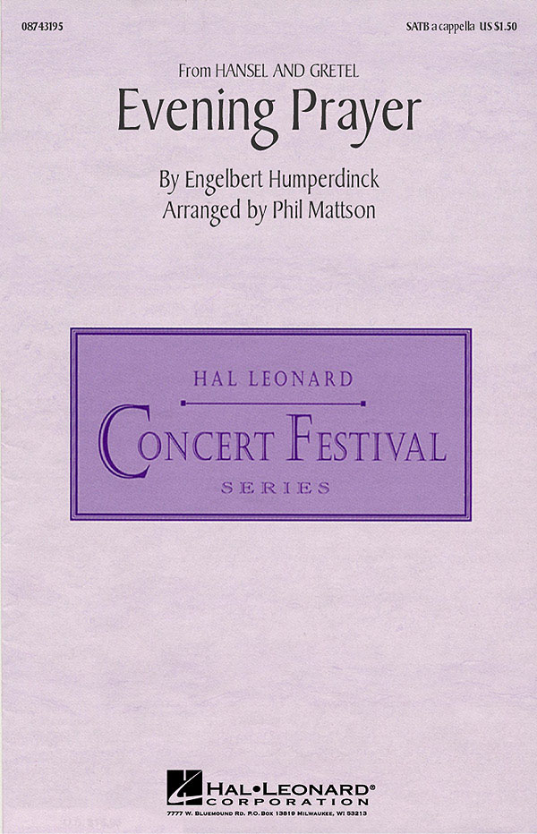 Engelbert Humperdinck: Evening Prayer (from Hansel und Gretel): SATB: Vocal