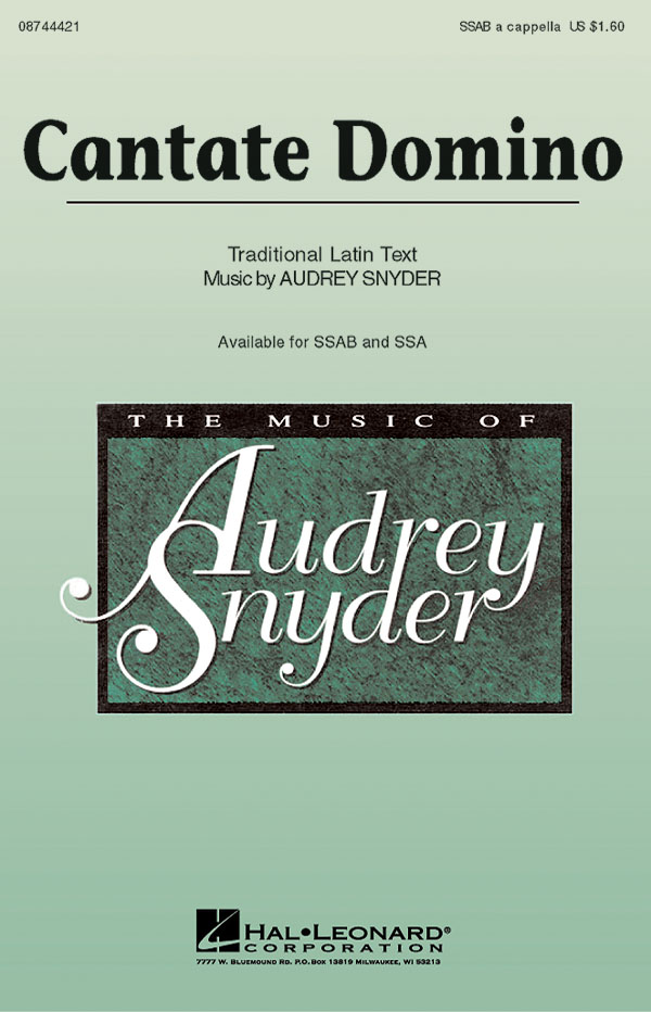 Audrey Snyder: Cantate Domino: Mixed Choir: Vocal Score