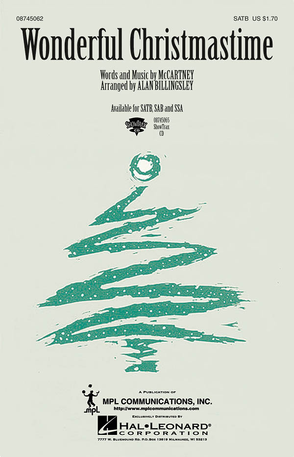 Paul McCartney: Wonderful Christmastime: SATB: Vocal Score