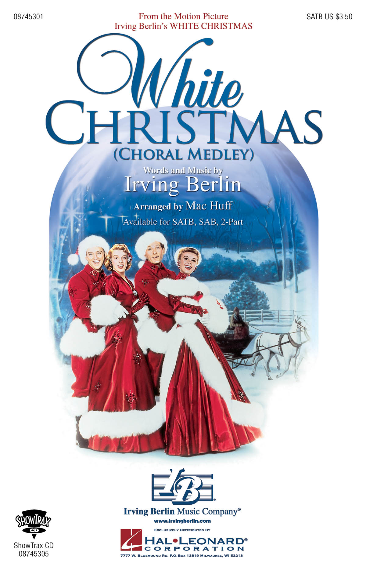 Irving Berlin: White Christmas (Choral Medley): SATB: Vocal Score