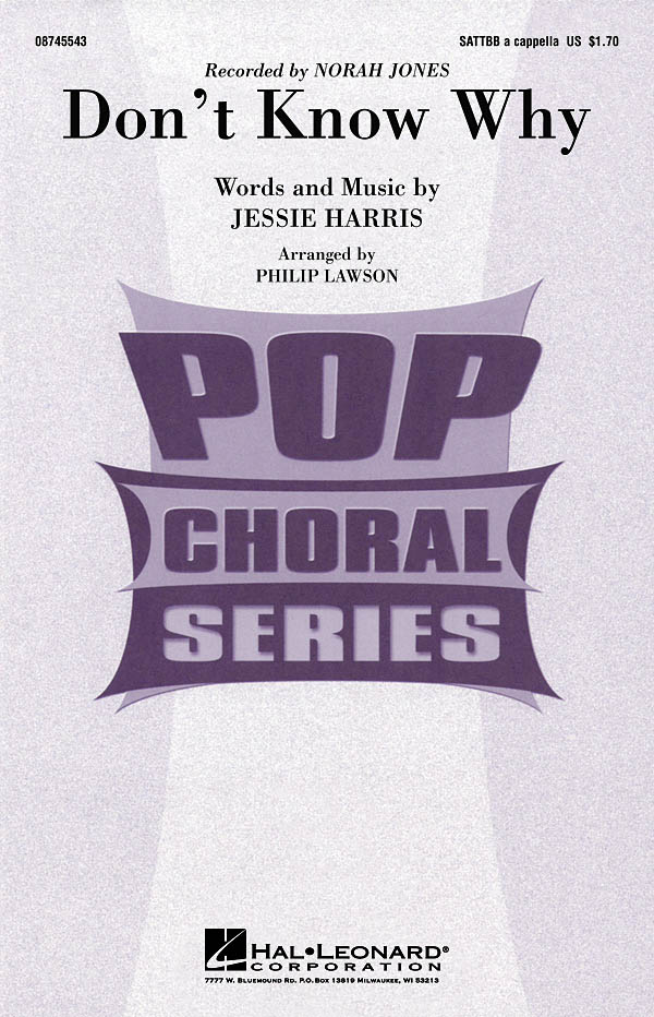 Jesse Harris: Don't Know Why: SATB: Vocal Score