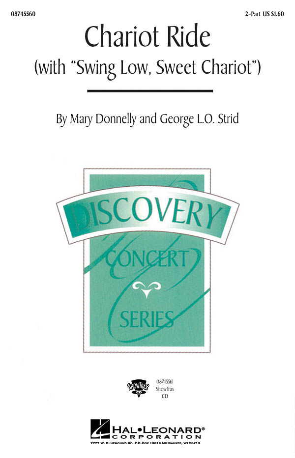 Mary Donnelly: Chariot Ride with Swing Low  Sweet Chariot: 2-Part Choir: Vocal