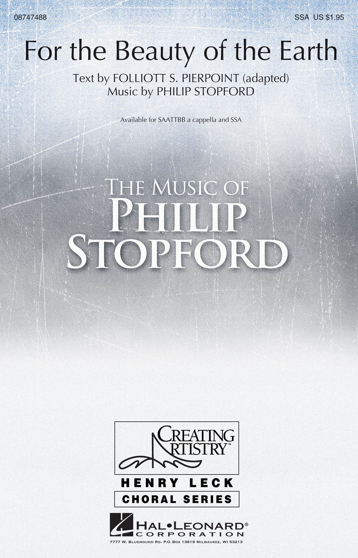 Philip W. J. Stopford: For the Beauty of the Earth: SATB: Vocal Score