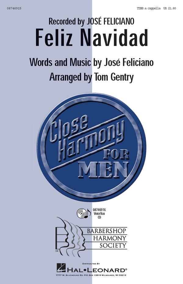 José Feliciano: Feliz Navidad: TTBB: Vocal Score