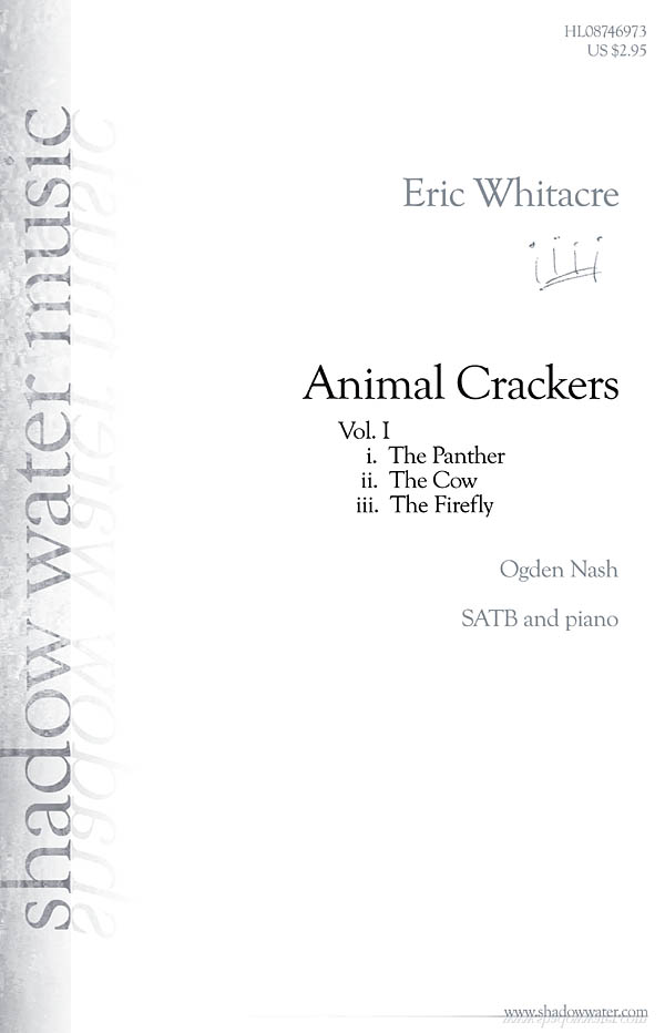 Eric Whitacre: Animal Crackers: SATB: Vocal Score