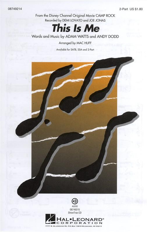 Julie Brown Karen Gist Paul Brown Regina Hicks: This Is Me: SATB: Vocal Score