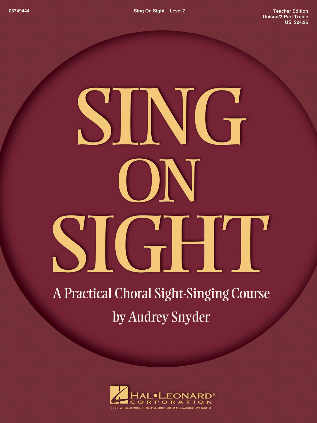 Sing on Sight - A Practical Sight-Singing Course: Unison Voices: Vocal Score