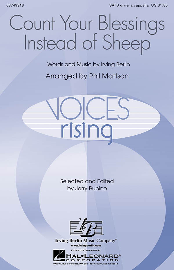 Irving Berlin: Count Your Blessings Instead of Sheep: SATB: Vocal Score