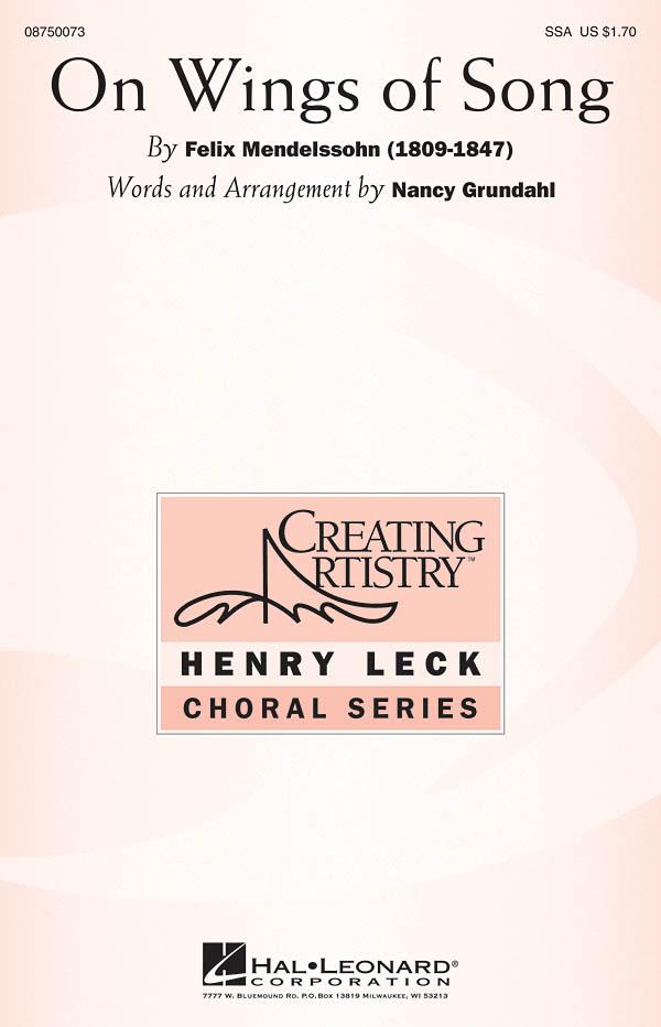 Felix Mendelssohn Bartholdy: On Wings of Song: SSA: Vocal Score