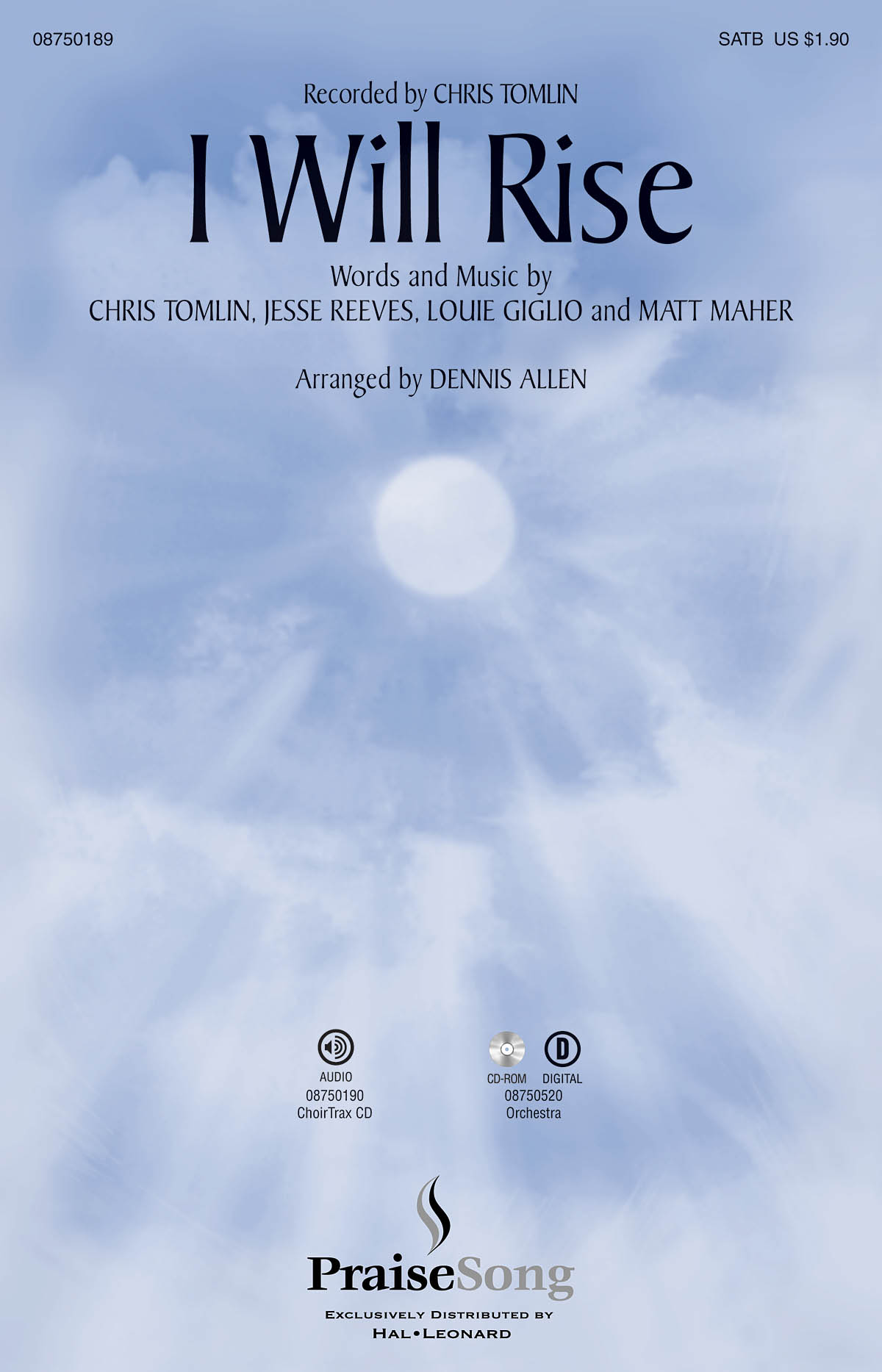 Chris Tomlin: I Will Rise: SATB: Vocal Score