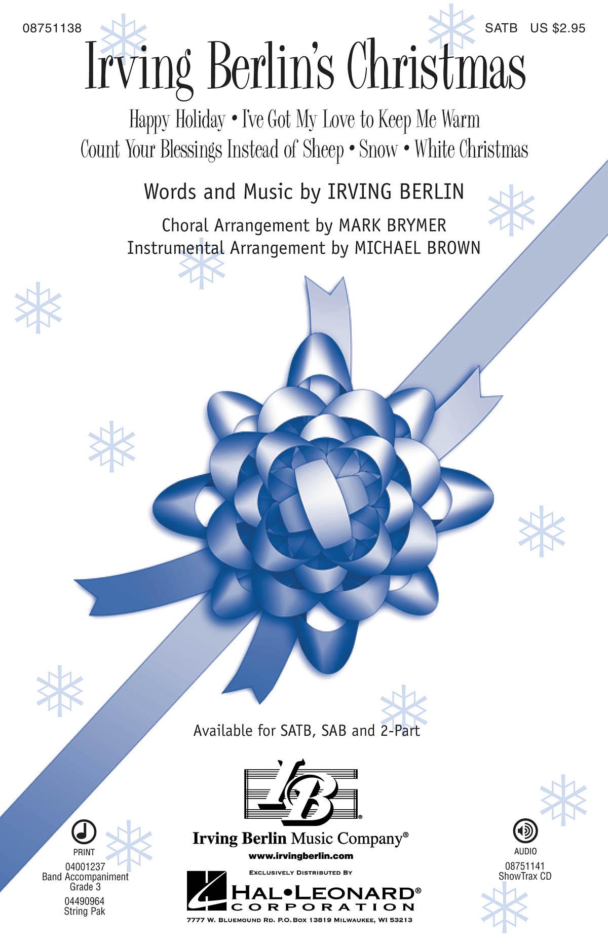 Irving Berlin: Irving Berlin's Christmas: SATB: Vocal Score