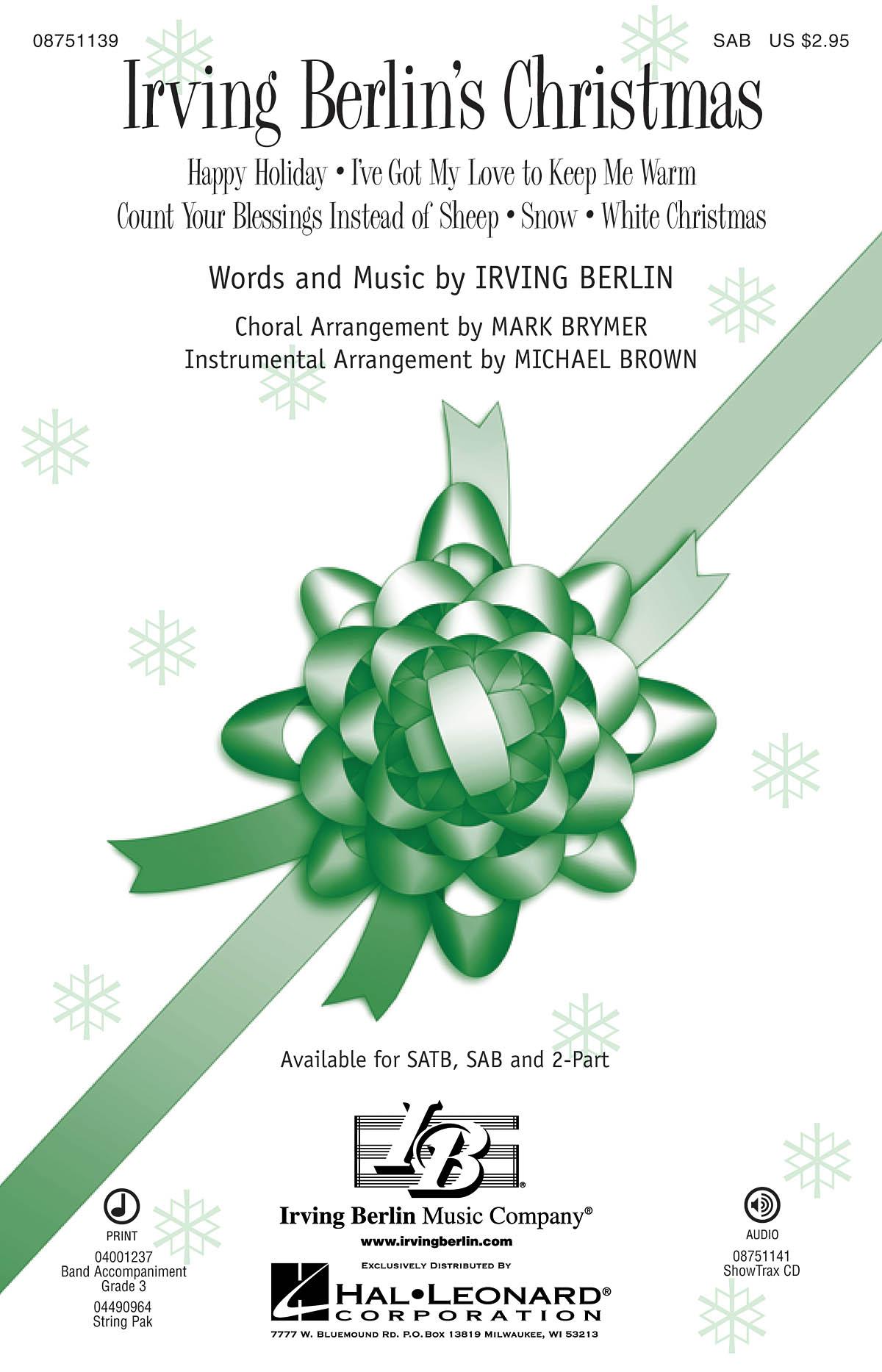 Irving Berlin: Irving Berlin's Christmas: SAB: Vocal Score