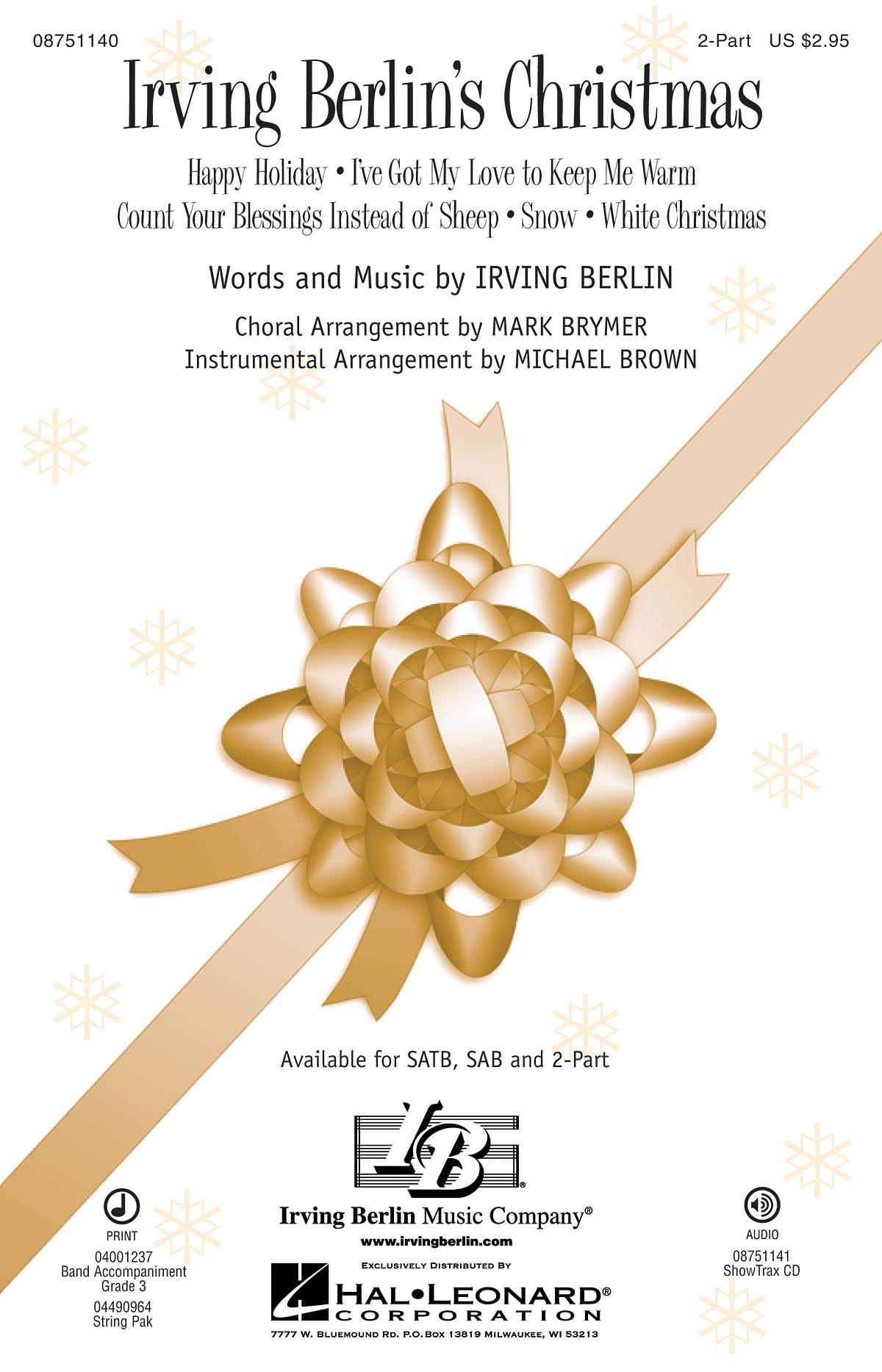 Irving Berlin: Irving Berlin's Christmas: 2-Part Choir: Vocal Score