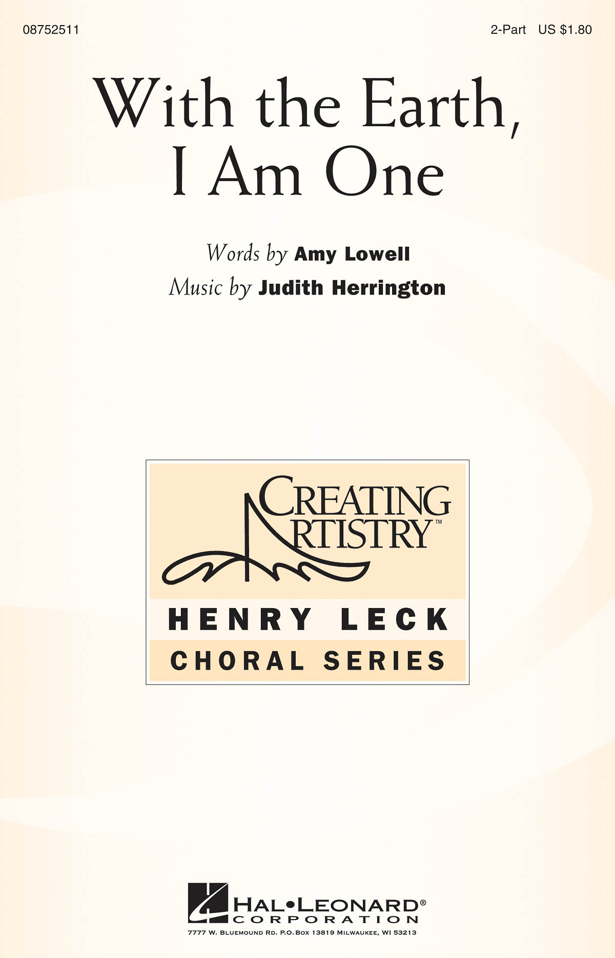Judith Herrington: With the Earth  I Am One: 2-Part Choir: Vocal Score