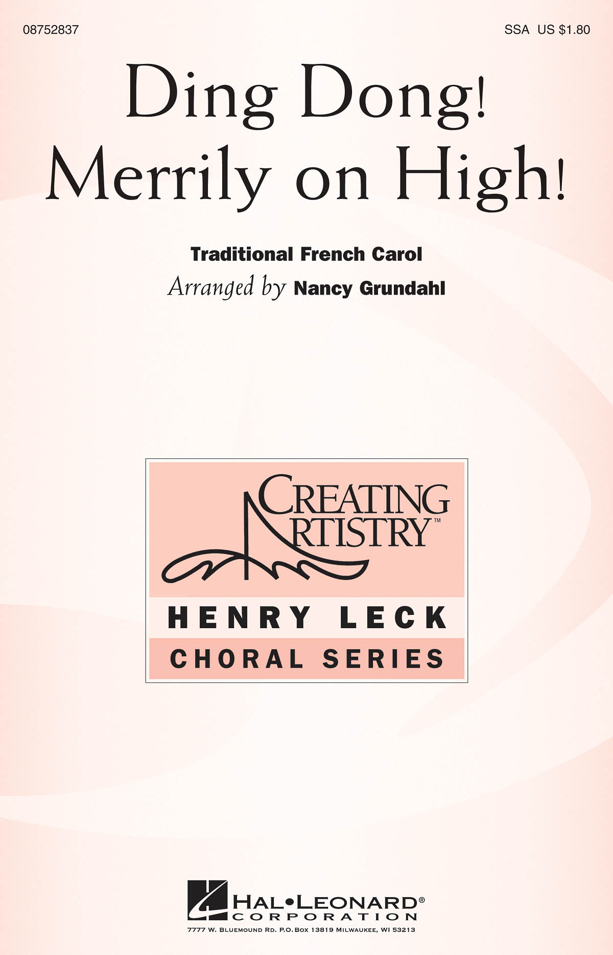 Ding Dong Merrily on High: SSA: Vocal Score