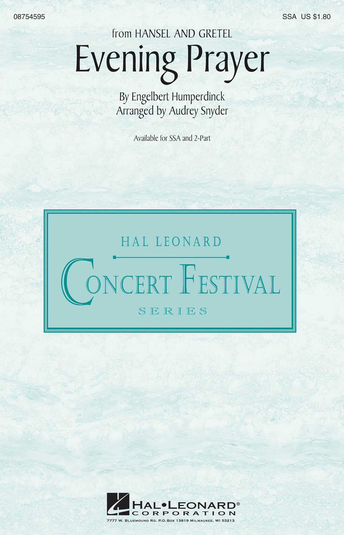 Engelbert Humperdinck: Evening Prayer: Mixed Choir: Vocal Score
