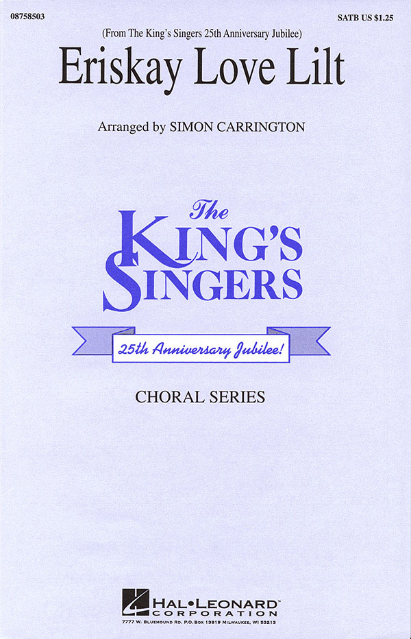 The King's Singers: Eriskay Love Lilt: SATB: Vocal Score