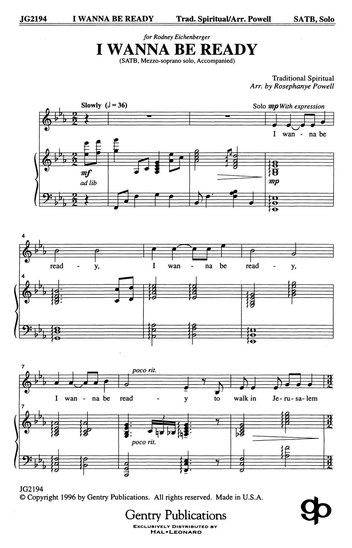 William Hall: Good Christian Men Rejoice: SATB: Vocal Score