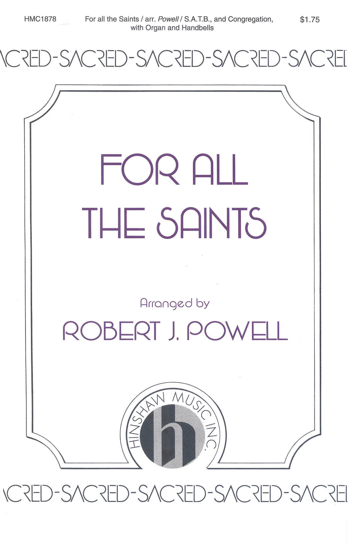 Ralph Vaughan Williams: For All The Saints: SATB: Vocal Score