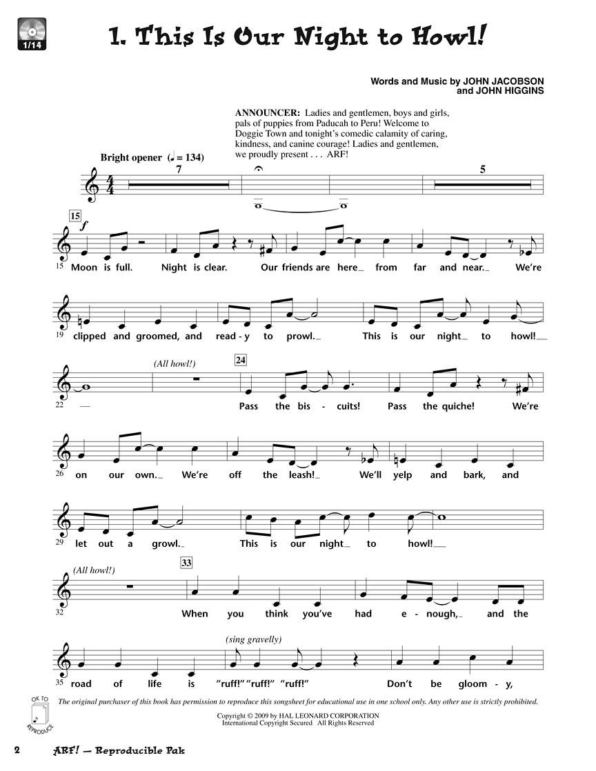 John Higgins John Jacobson: Arf!: Children's Choir: Classroom Musical