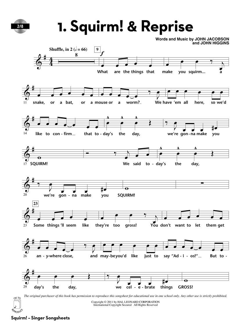John Higgins John Jacobson: Squirm!: Children's Choir: CD