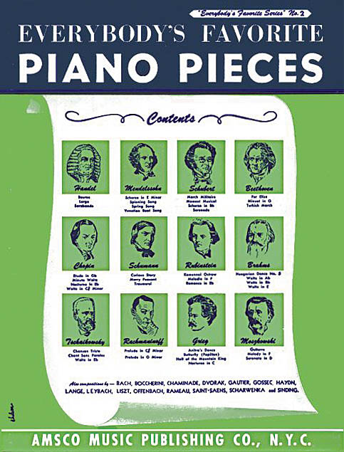 Everybody's Favorite Piano Pieces: Piano: Instrumental Album