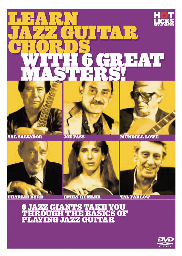 Learn Jazz Guitar Chords with 6 Great Masters!: Guitar: DVD