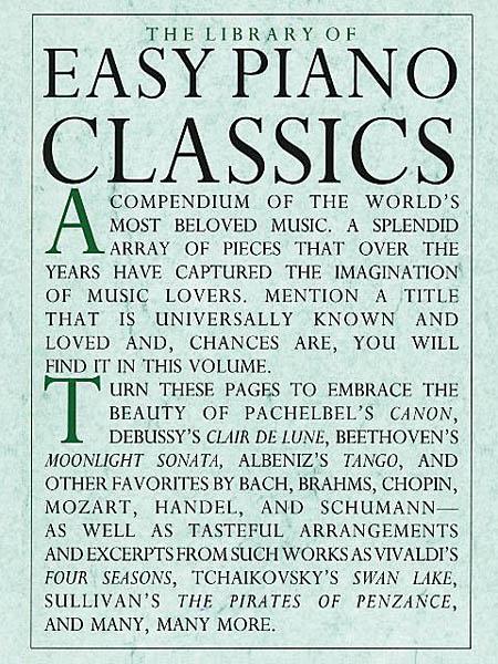 Library of Easy Piano Classics: Piano: Instrumental Album