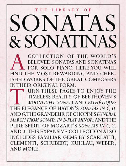 The Library of Sonatas and Sonatinas: Piano: Instrumental Album