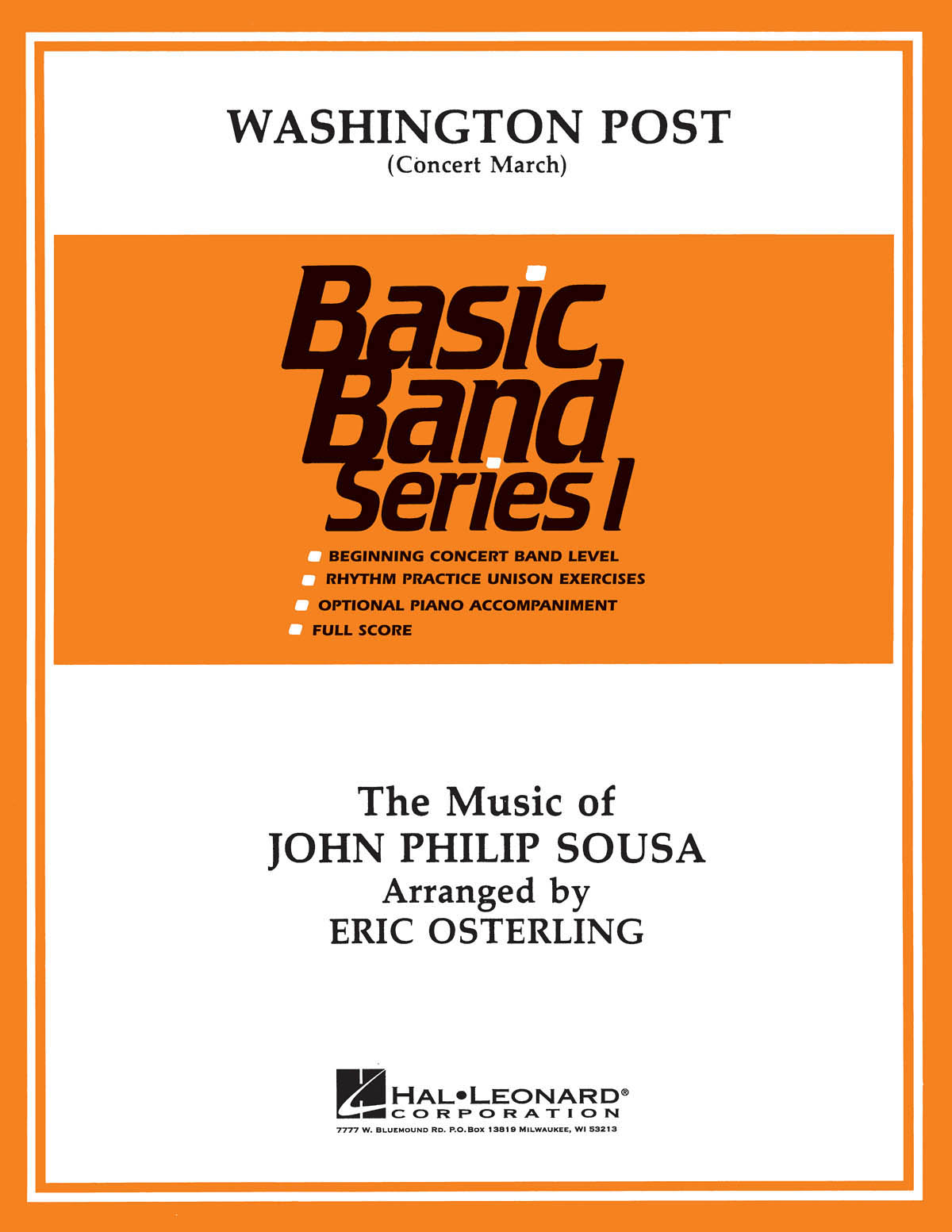 John Philip Sousa: Washington Post March: Concert Band: Score and Parts