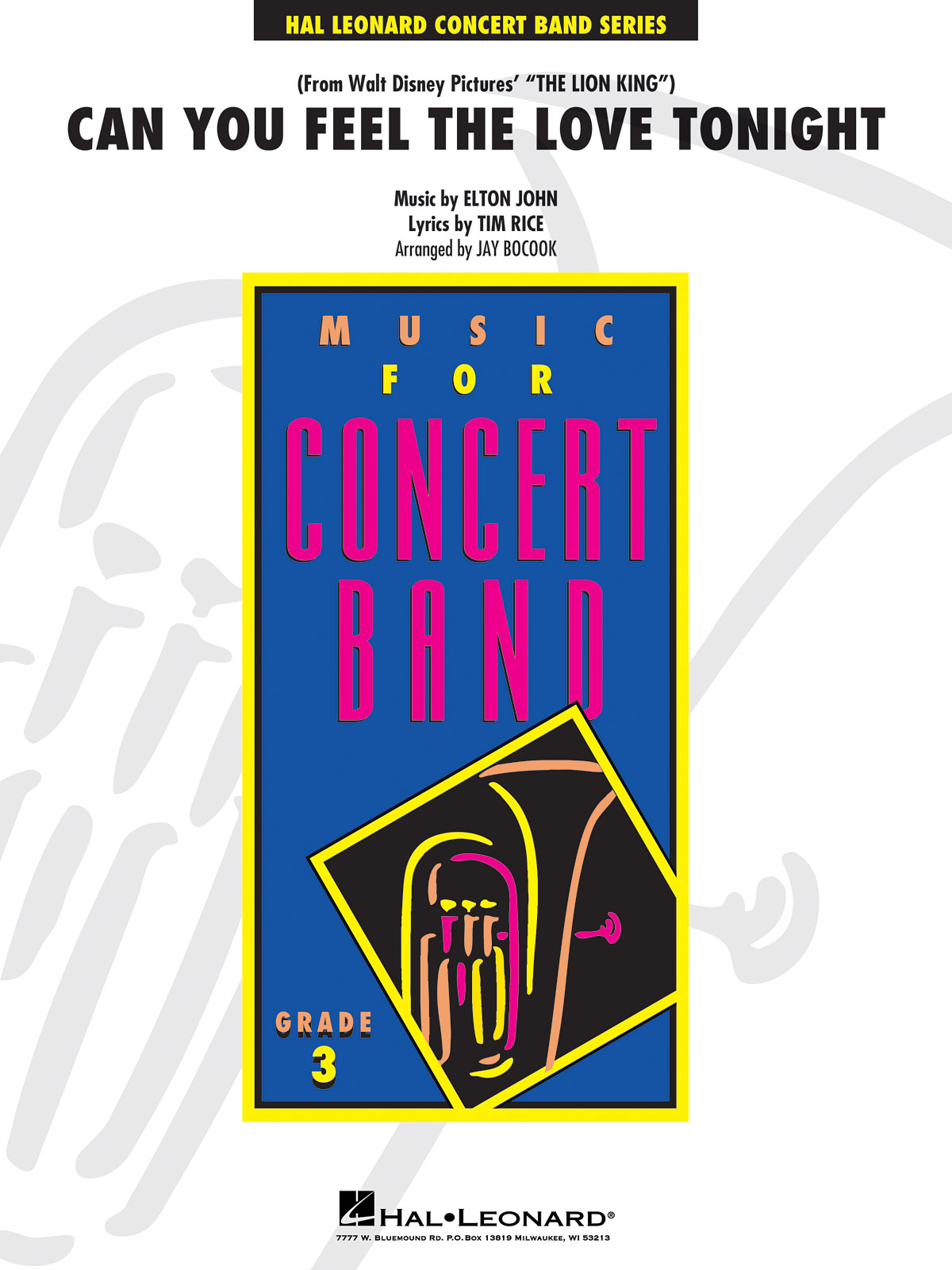 Elton John Tim Rice: Can you feel the Love Tonight: Concert Band: Score & Parts