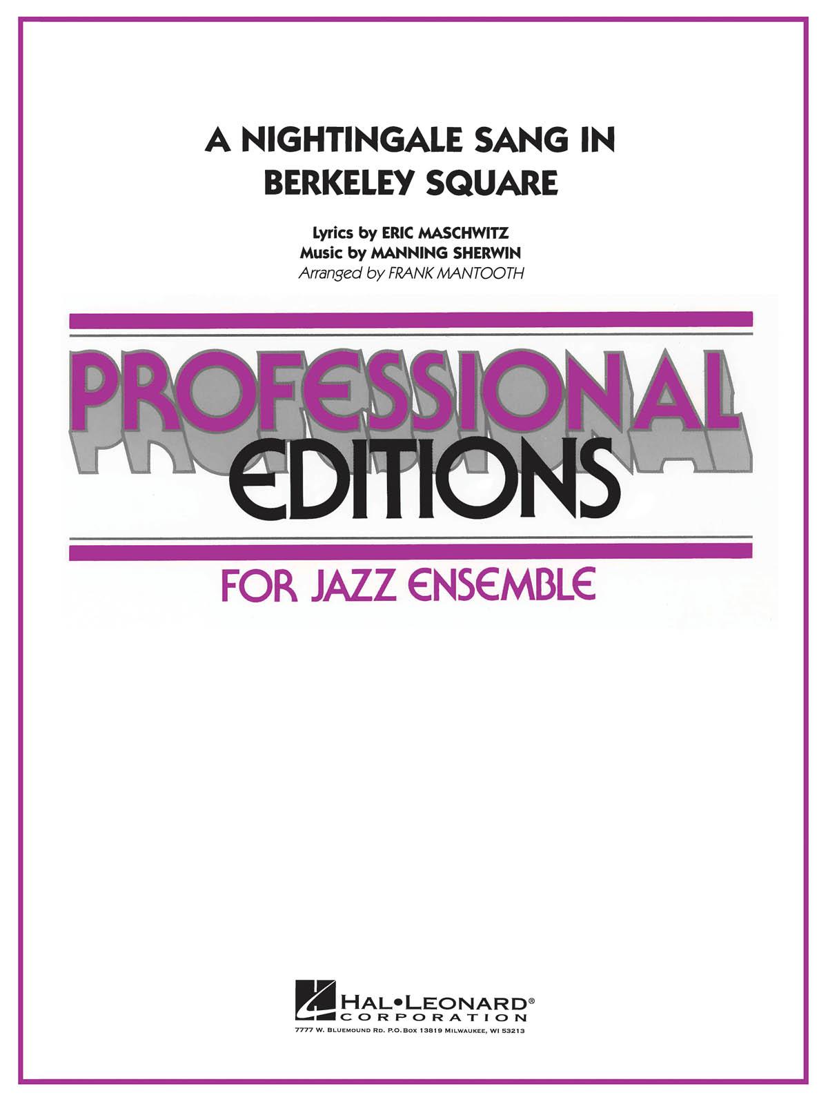 Sherwin Maschwitz: A Nightingale Sang in Berkeley Square: Jazz Ensemble: Score &