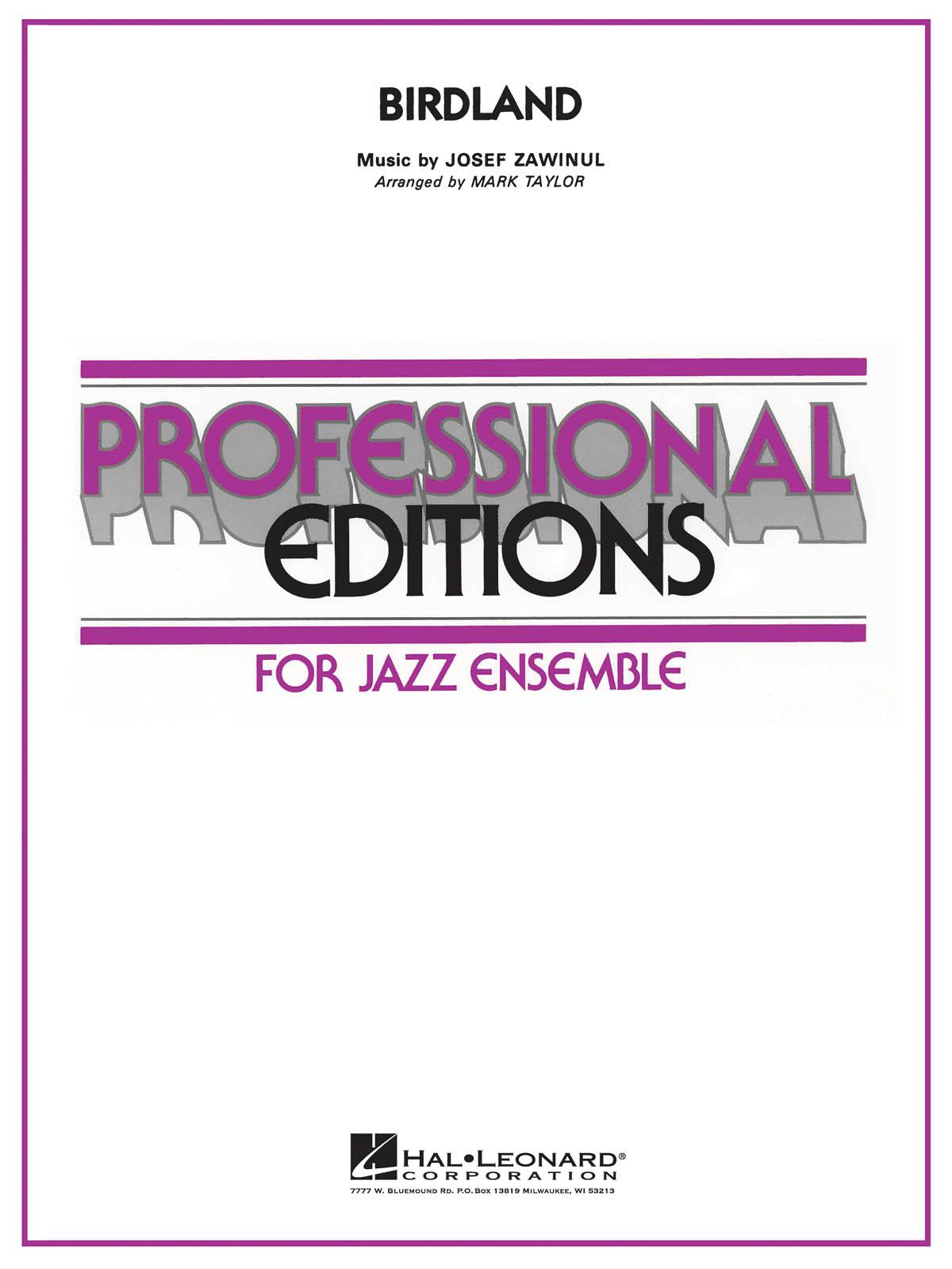 Birdland - Jazz Ensemble: Jazz Ensemble: Score