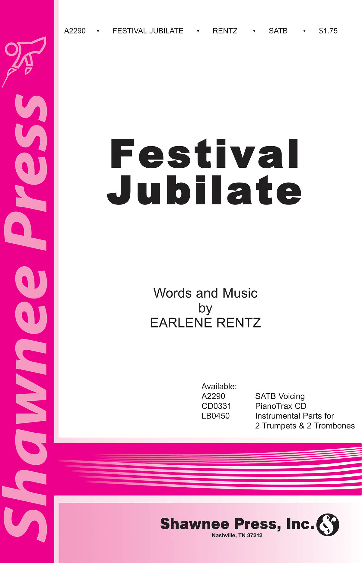 Earlene Rentz: Festival Jubilate: SATB: Vocal Score