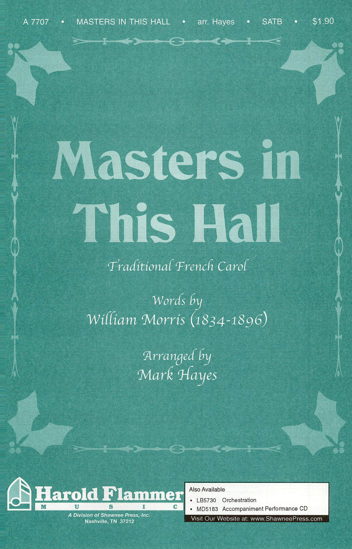 Gustav Holst: Masters in This Hall: SATB: Vocal Score