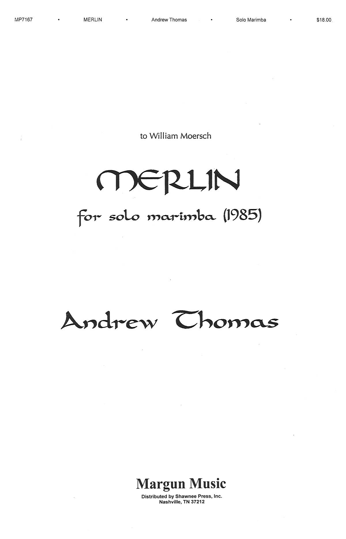 Andrew Thomas: Merlin: Marimba: Instrumental Album