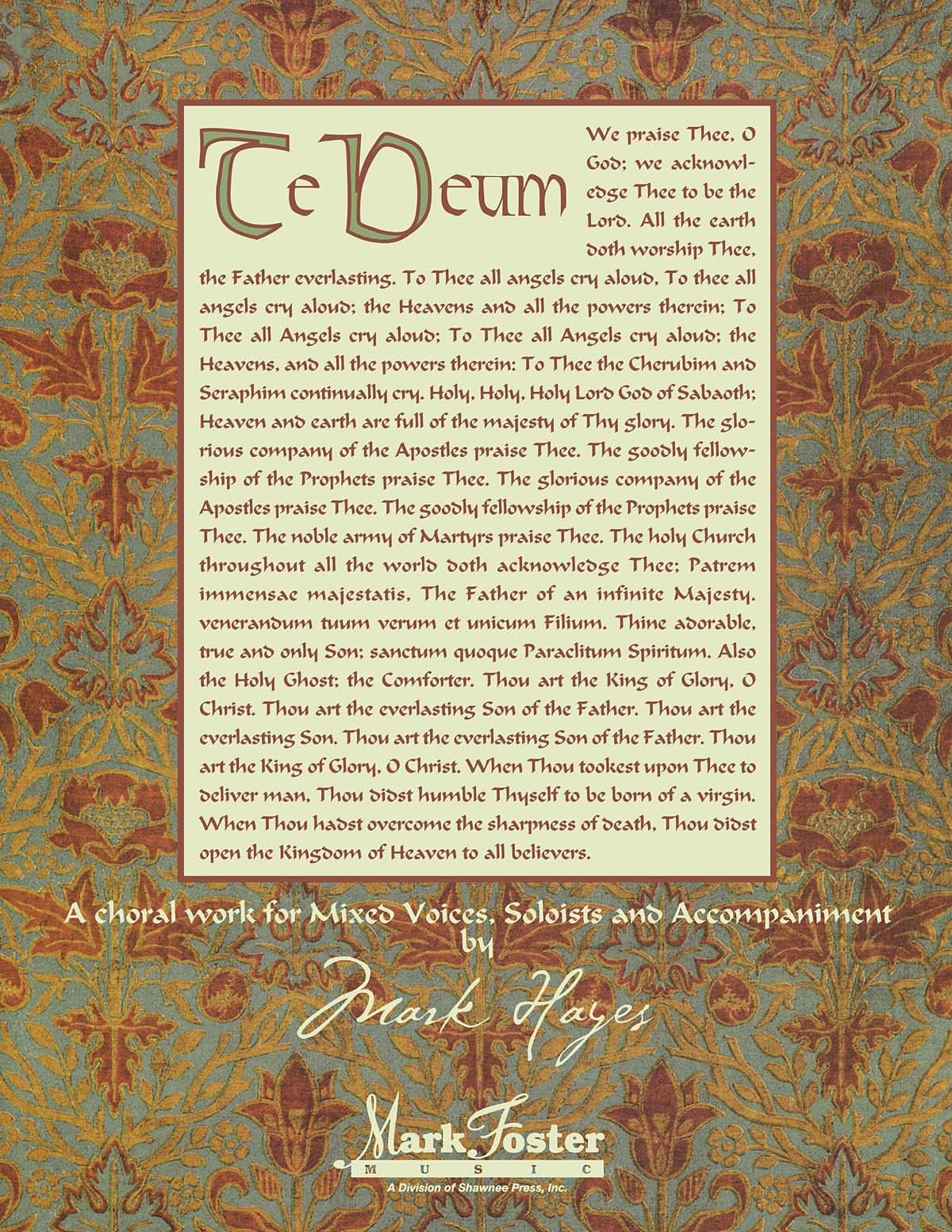 Mark Hayes: Te Deum: Double Choir: Vocal Score