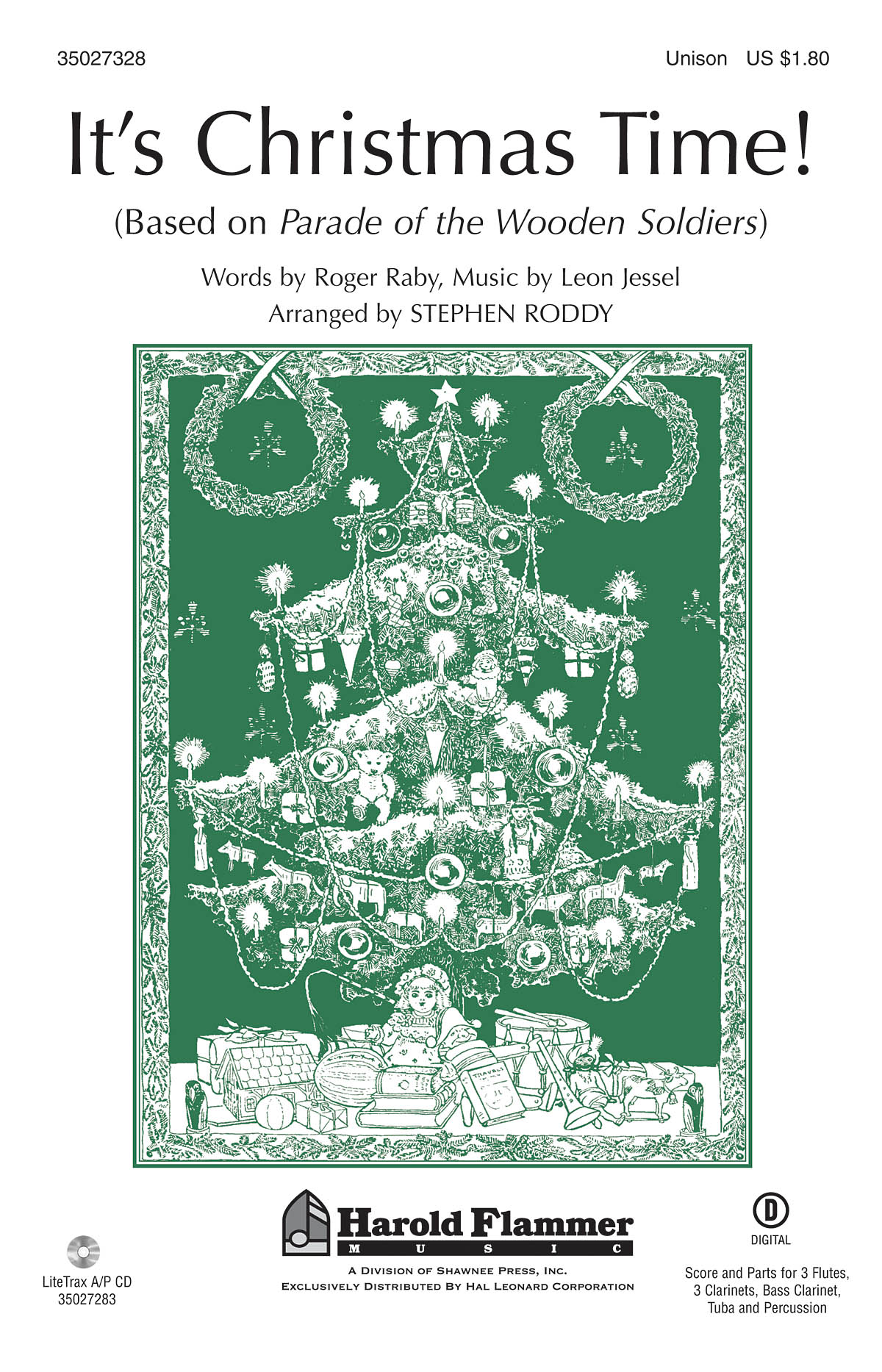 Roger Raby: It's Christmas Time!: Unison Voices: Vocal Score