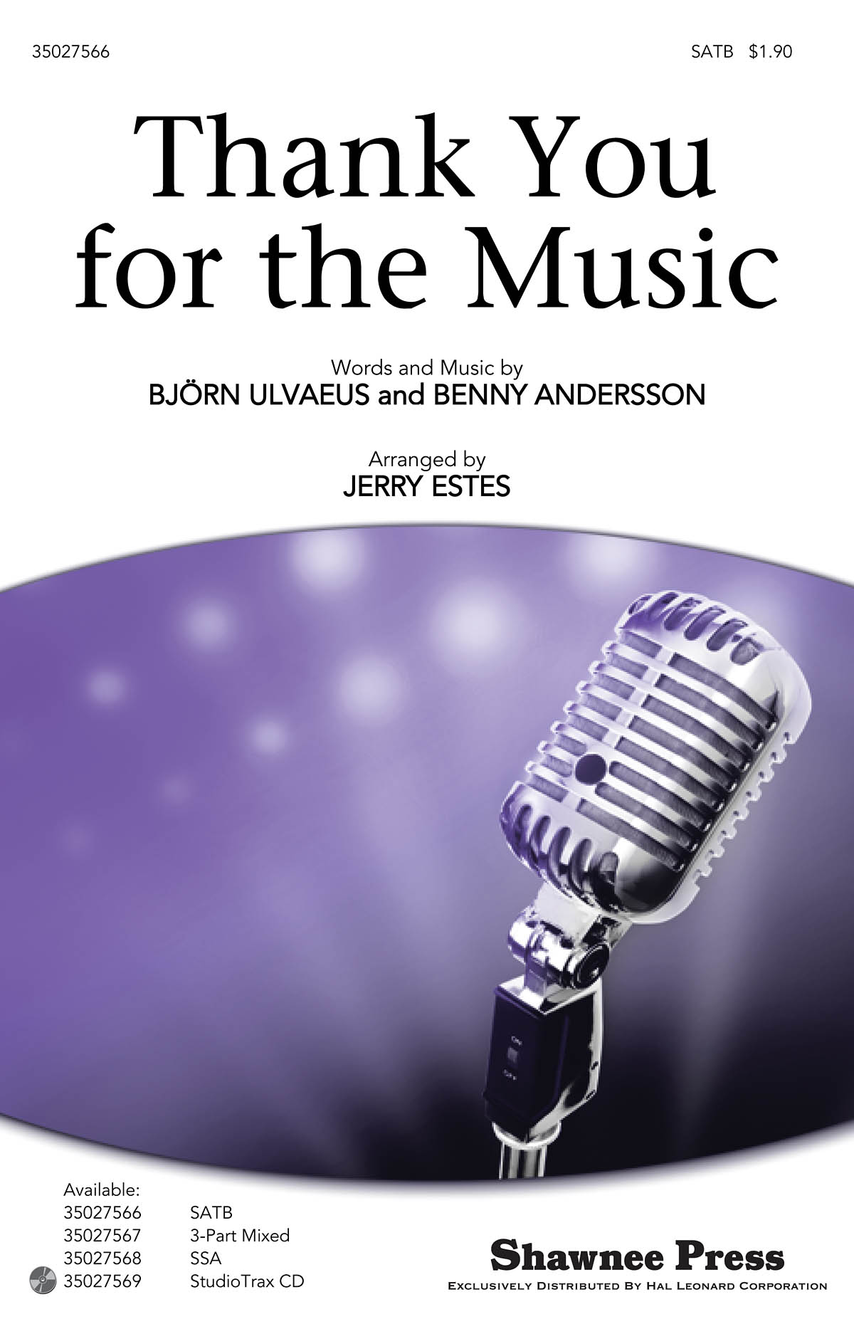 Benny Andersson Björn Ulvaeus: Thank You for the Music: SATB: Vocal Score
