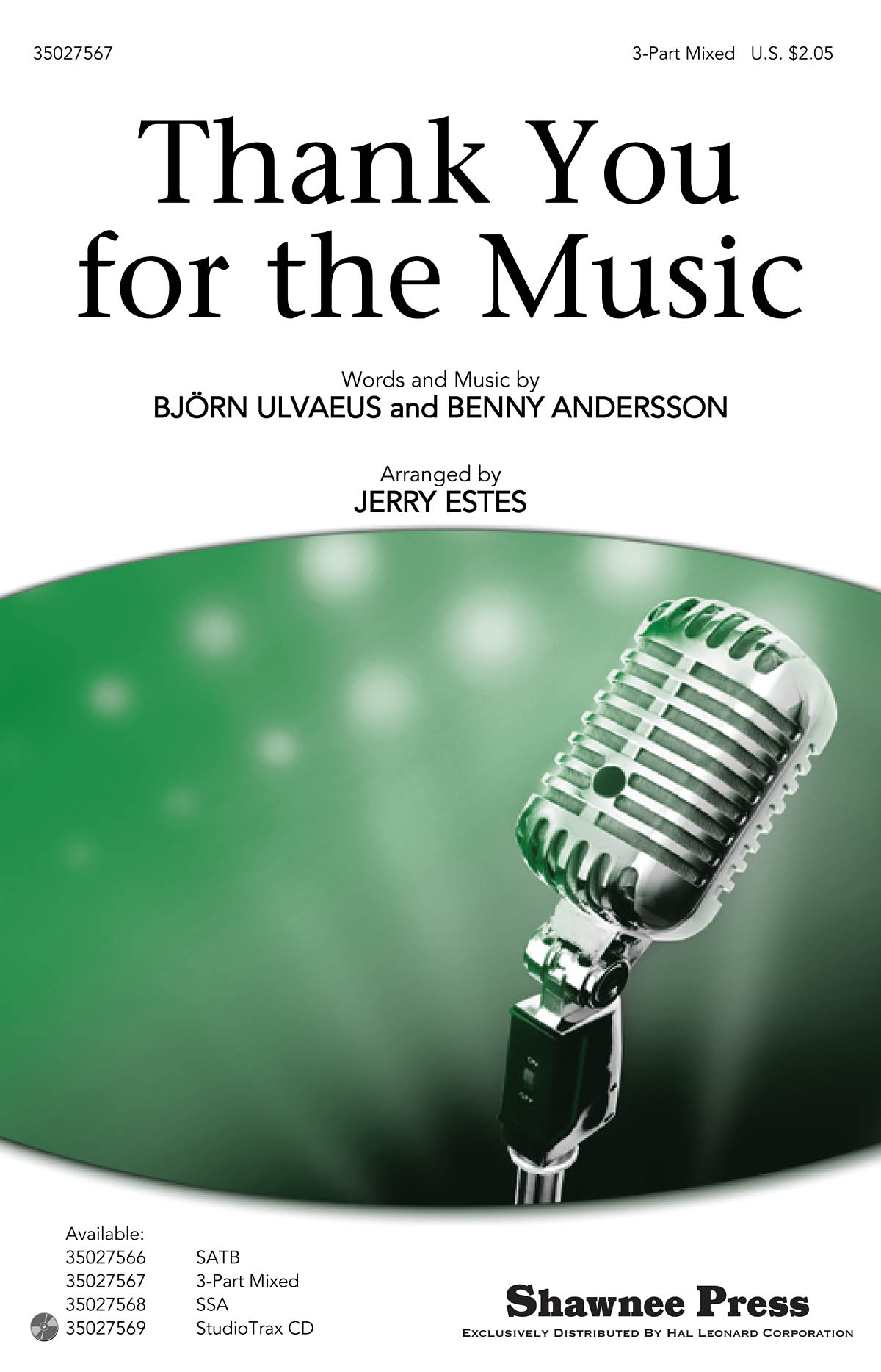 Benny Andersson Björn Ulvaeus: Thank you for the Music: 3-Part Choir: Vocal