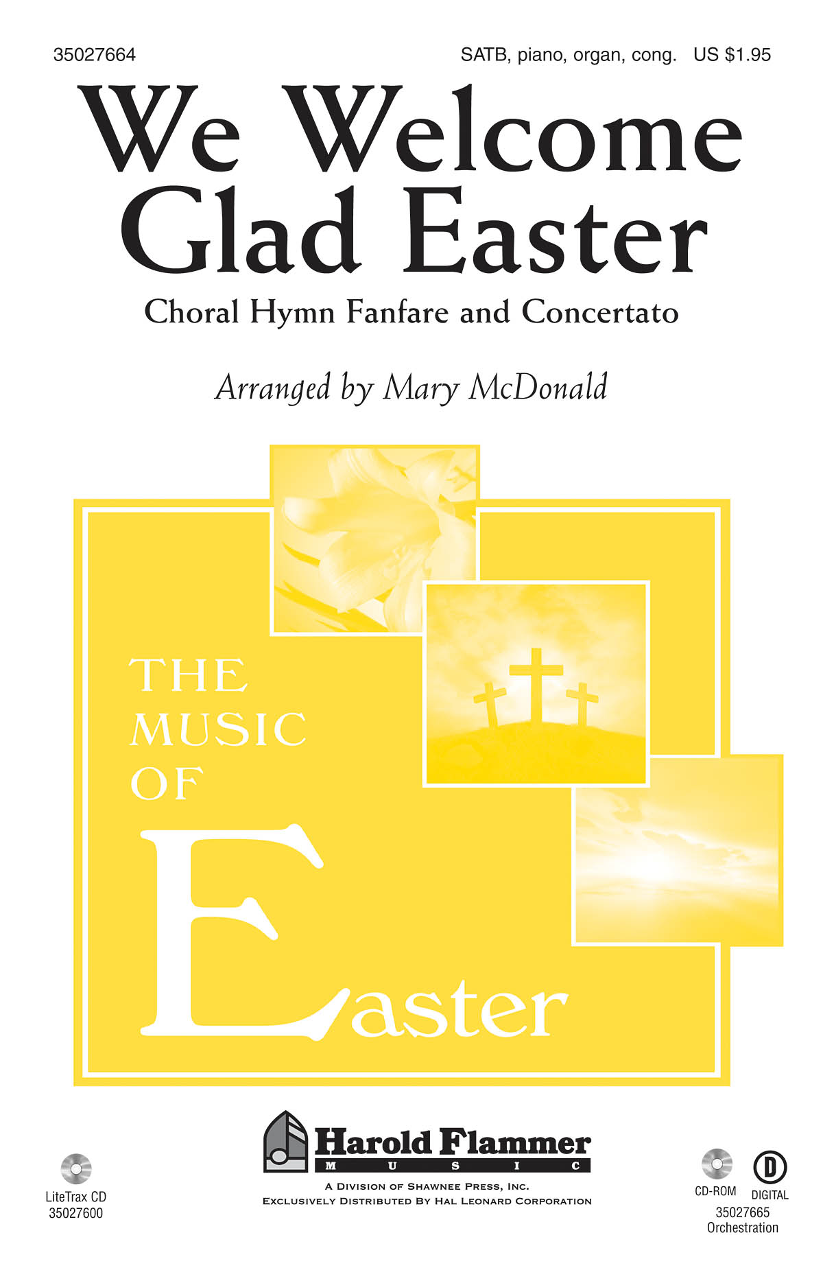 Welsh Melody: We Welcome Glad Easter: SATB: Vocal Score