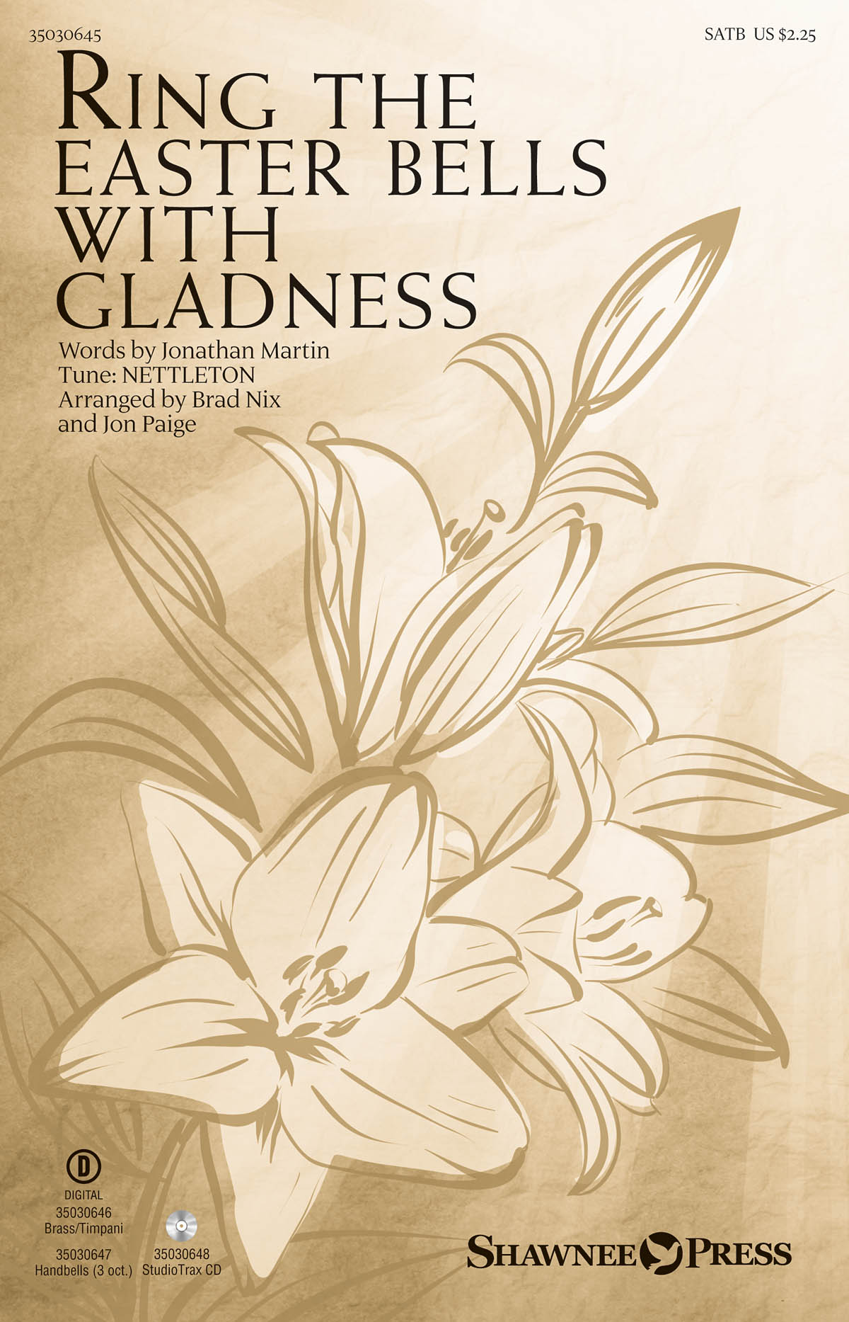 Ring the Easter Bells with Gladness: SATB: Vocal Score