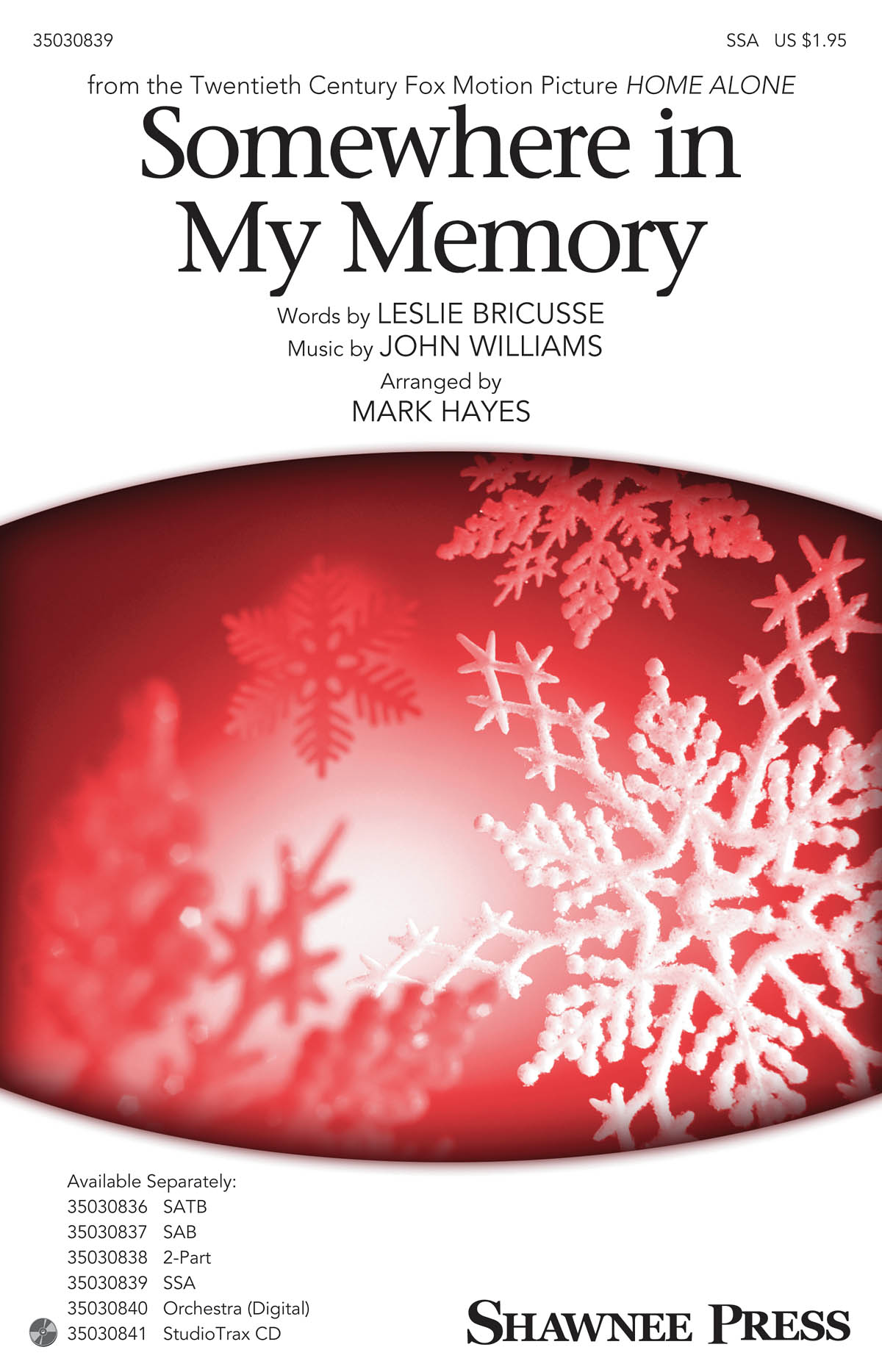 Somewhere in My Memory: SSA: Vocal Score