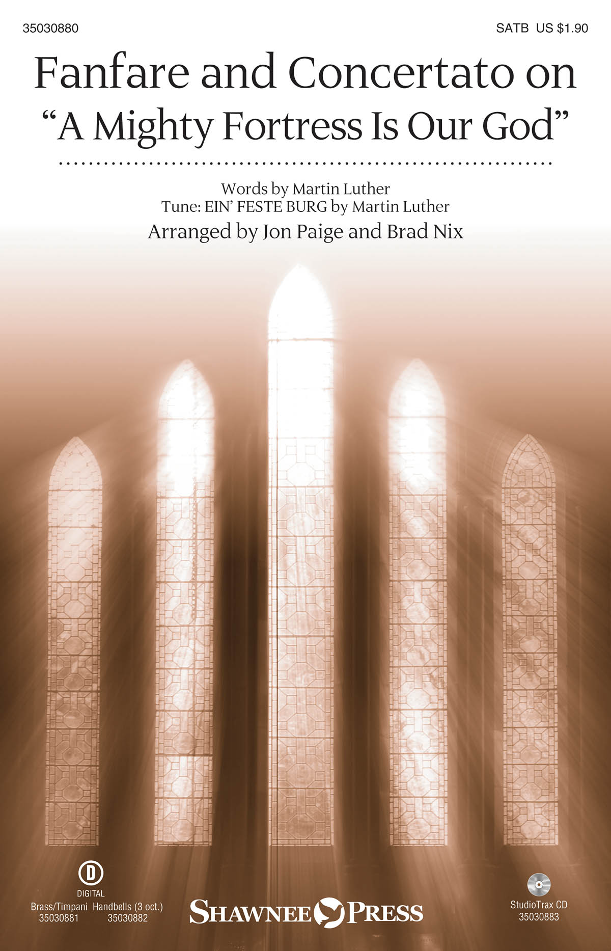 Fanfare and Concertato on A Mighty Fortress: SATB: Vocal Score