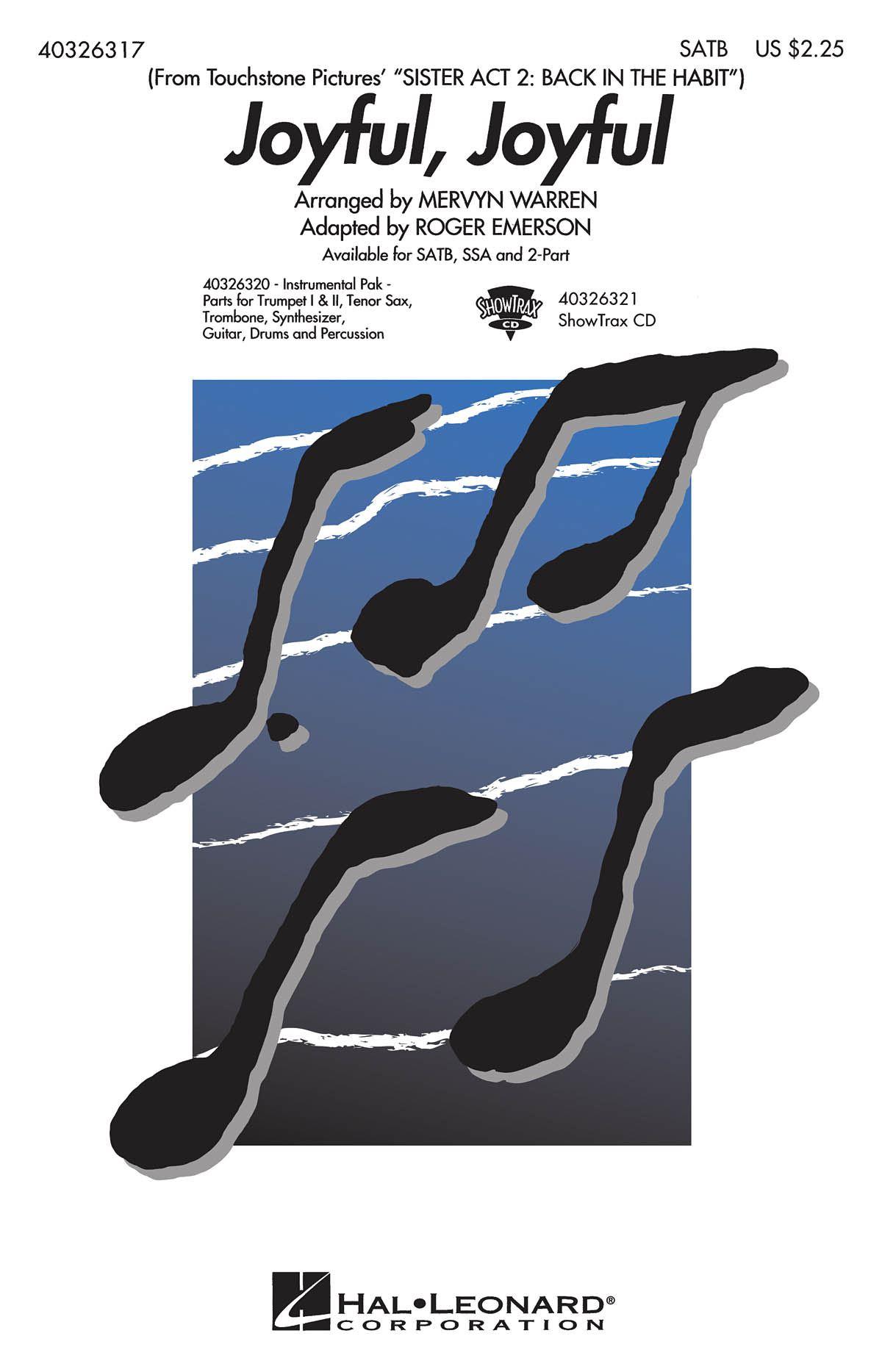 Ludwig van Beethoven: Joyful  Joyful: SATB: Vocal Score