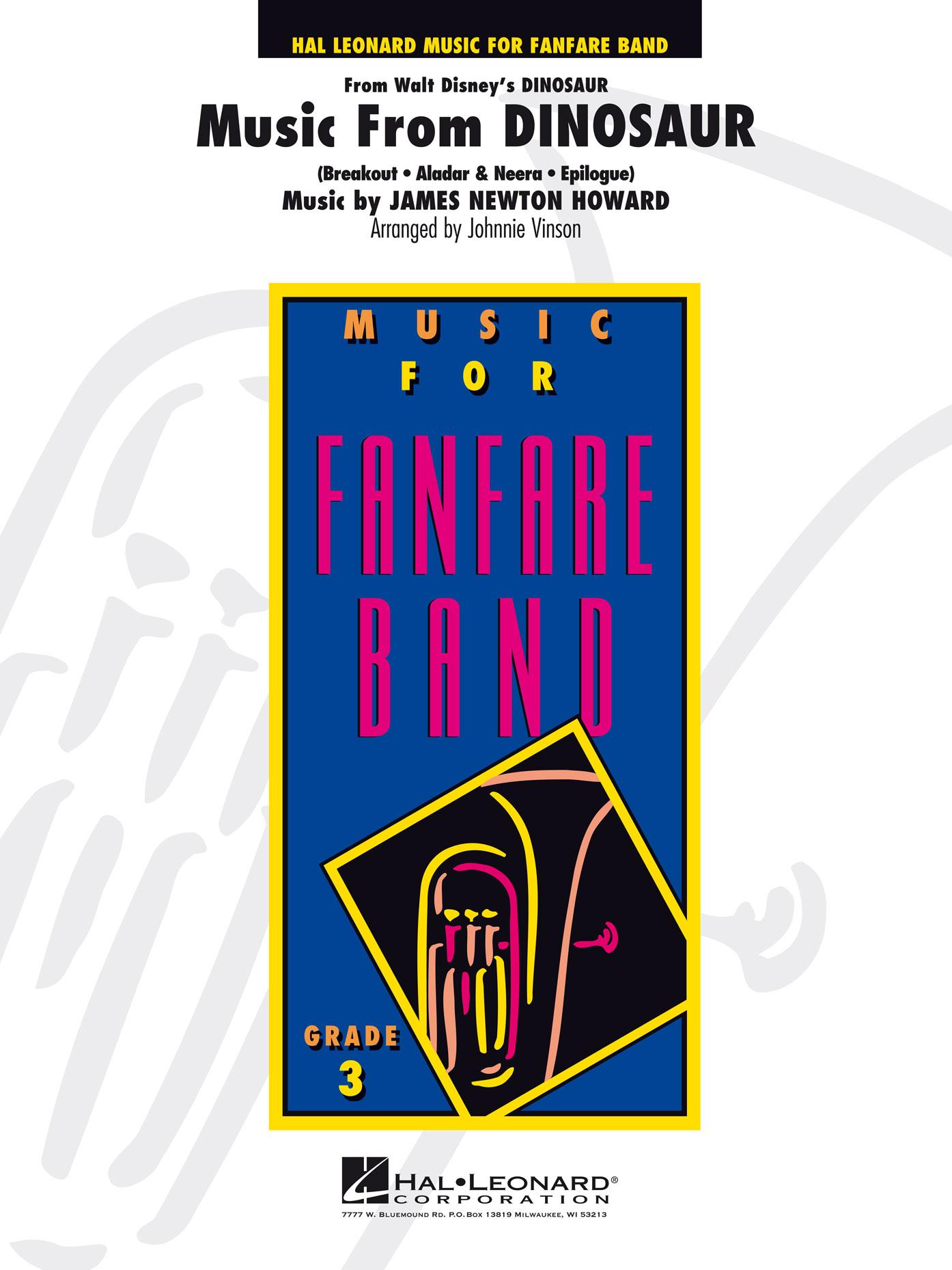 James Newton Howard: Music From Dinosaur: Fanfare Band: Score
