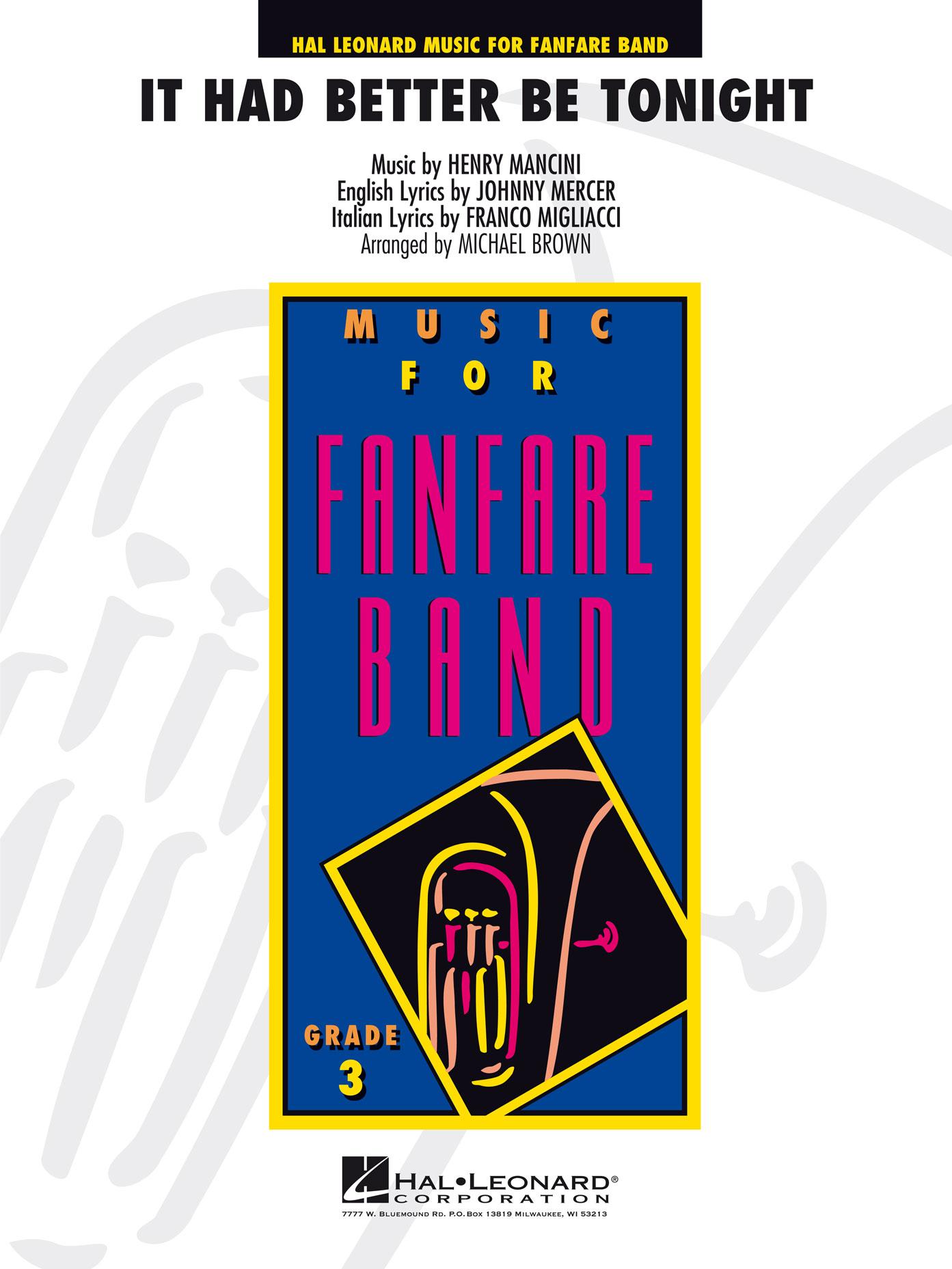 Henry Mancini: It Had Better Be Tonight: Fanfare Band: Score & Parts