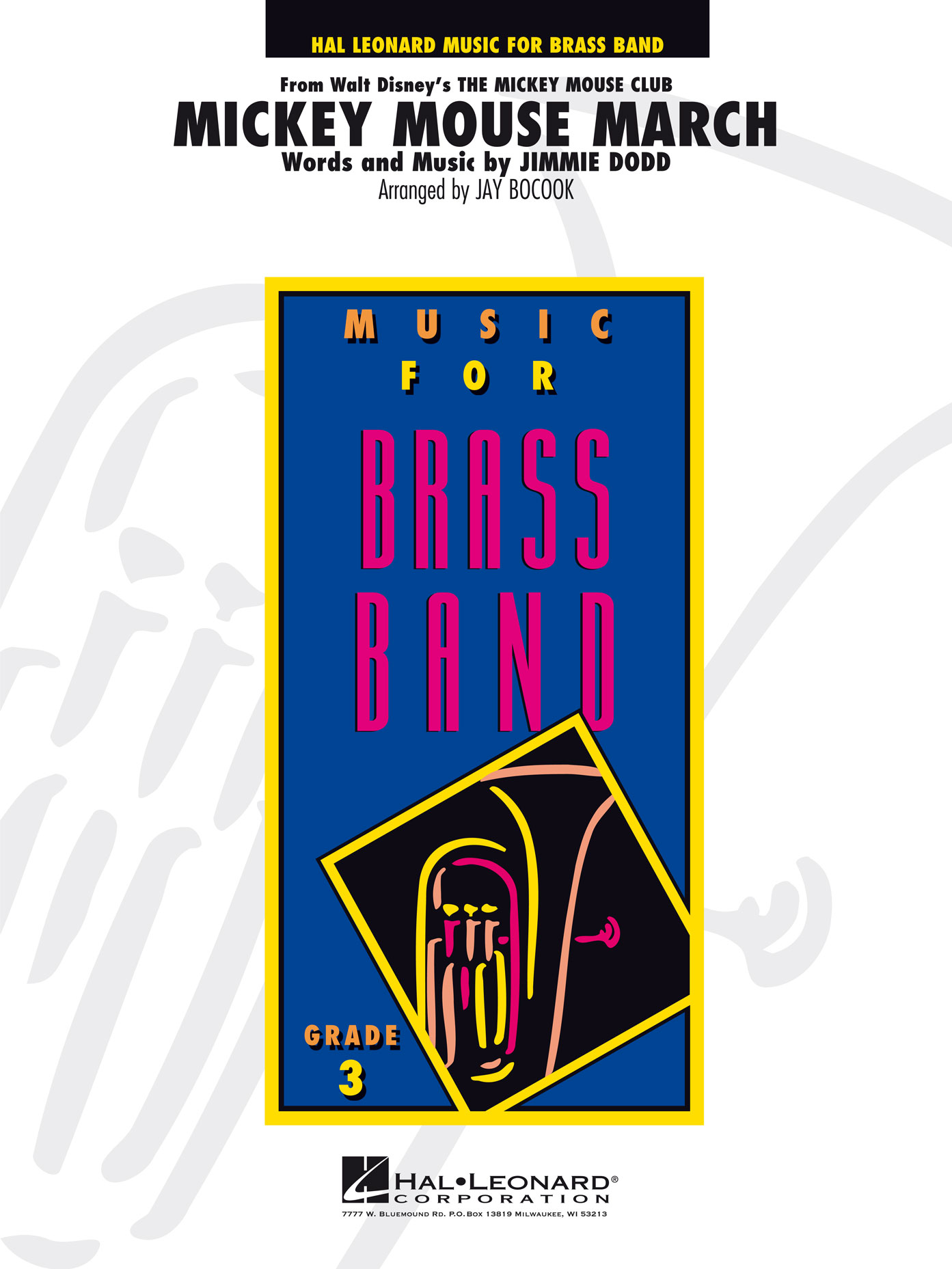 Jimmie Dodd: Mickey Mouse March: Brass Band: Score & Parts
