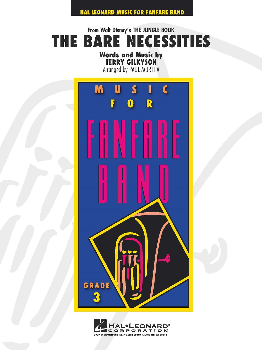 Terry Gilkyson: The Bare Necessities: Fanfare Band: Score and Parts